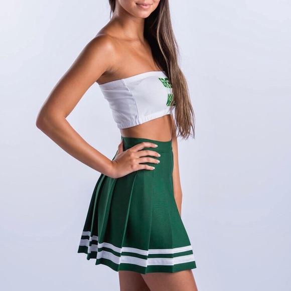 40db62bbf Urban Outfitters Skirts   Knit Pleat Cheer Uniform Lolita Mini ...
